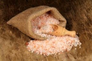 Розова Хималайска сол на кристали